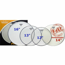 Remo Clear Emperor Pro Pack 12/13/16 Inc FREE 14 inch Drum Head-0