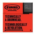 Evans G1 Coated Standard 12/13/16 Tom Head Pack-832