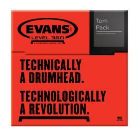 Evans G2 Clear Standard 12/13/16 Tom Head Pack-862