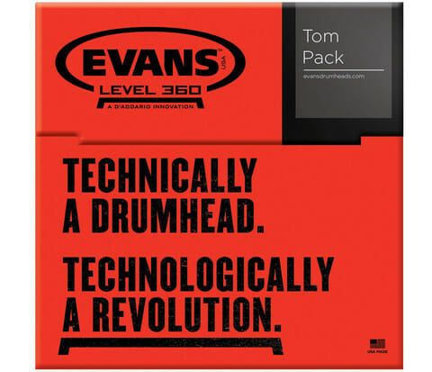 Evans G2 Clear Standard 12/13/16 Tom Head Pack-862