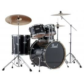 Pearl EXX725S/#31 Export Drum Kit with Sabian SBR Cymbal Pack - Jet Black-0
