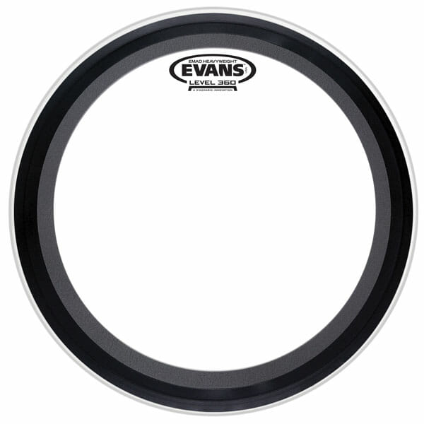 Evans EMAD Heavyweight Clear 24 inch Bass Head-1011