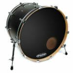 Evans EQ3 Black 24 inch Bass Head – With Port-0
