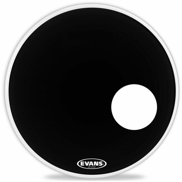 Evans EQ3 Black 24 inch Bass Head - With Port-1041