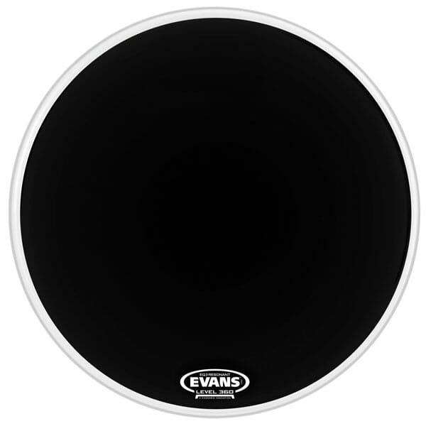 Evans EQ3 Black 22 inch Bass Head-1054