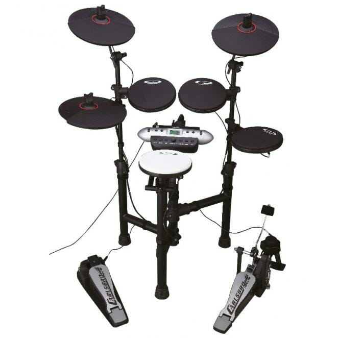 Carlsbro Compact Electronic Commander Drum Kit CSD130 - Free Headphones-0