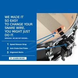 "Puresound Custom Pro Series Brass Snare Drum Wires 14"" 20 Strand-CPB1420-2024"