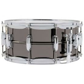 """Ludwig Black Beauty LB417 14x6.5"""" Brass Snare Drum -0"""
