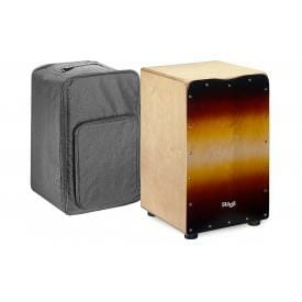 Stagg CAJ-50M SB - Sunburst Cajon with free bag.-0