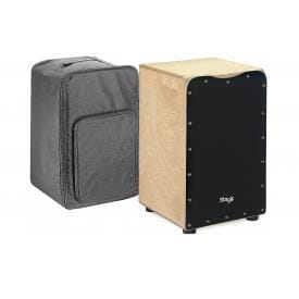 Stagg CAJ-50M BK - Black Cajon with free bag-0
