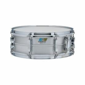 "Ludwig Acrolite LM404C 14x5"" Beaded Brushed Aluminum Snare Drum -0"
