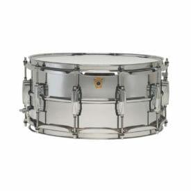 """Ludwig Supraphonic LM402 14x6.5"""" Beaded Aluminum Snare Drum -0"""