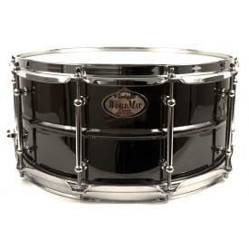 Worldmax 14x8 Black Brass w/ Chrome Snare Drum-0