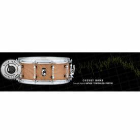 "Mapex Black Panther Design Lab - ""Cherrybomb"" 13x5.5 Snare Drum-2669"