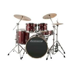 """LUDWIG 20"""" 5 Piece Evolution Outfit w/HW - Red Sparkle"""