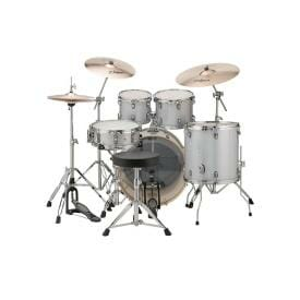 """LUDWIG 20"""" 5 Piece Evolution Outfit w/HW - Silver/White Sparkle"""