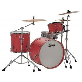 """LUDWIG NeuSonic 22"""" 3 Piece Shell Pack - Coral red"""
