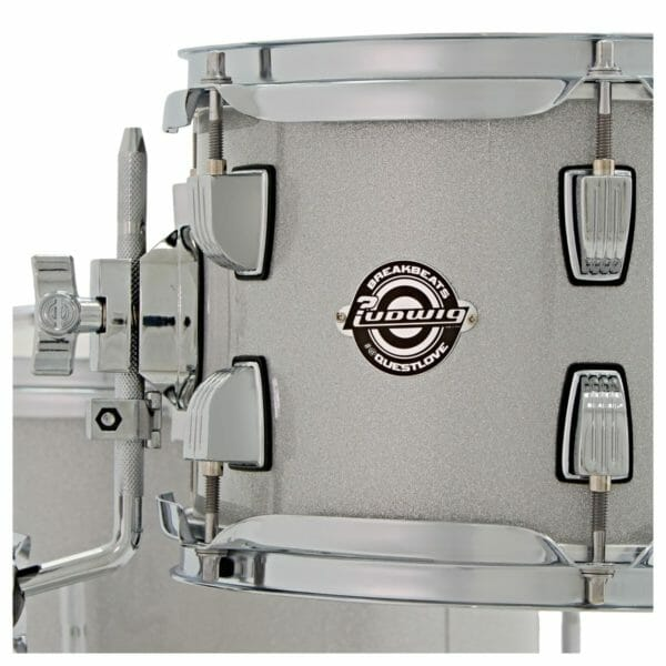 Ludwig Breakbeats Questlove 16in 4Pc Shell Pack, White Sparkle