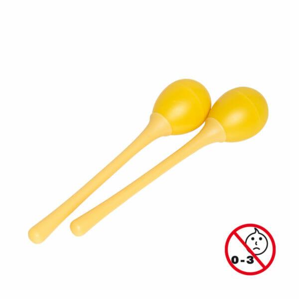 Stagg plastic egg maracas yellow