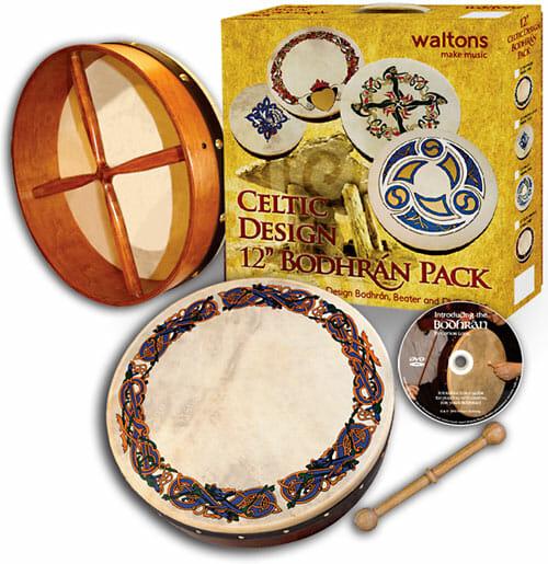 "Waltons 12"" Bodhran, Celtic Animals"