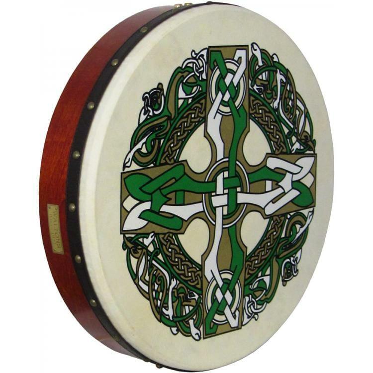 "Waltons 18"" Bodhran Celtic Cross"