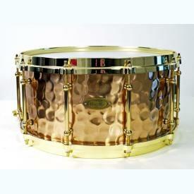 "Worldmax Bronze Hammered Snare 14"" x 6.5"""