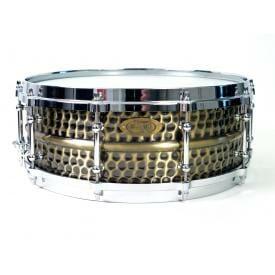 Worldmax WorldMax Brass Nickel Hammered Snare, 14x6.5in