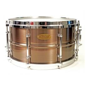 "Worldmax Red Copper Brass Snare 14"" x 6.5"""
