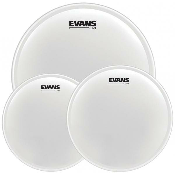 """Evans UV1 Series Coated Fusion Pack (10"""", 12"""", 14"""") with 14"""" UV1 Coated Snare Batter"""