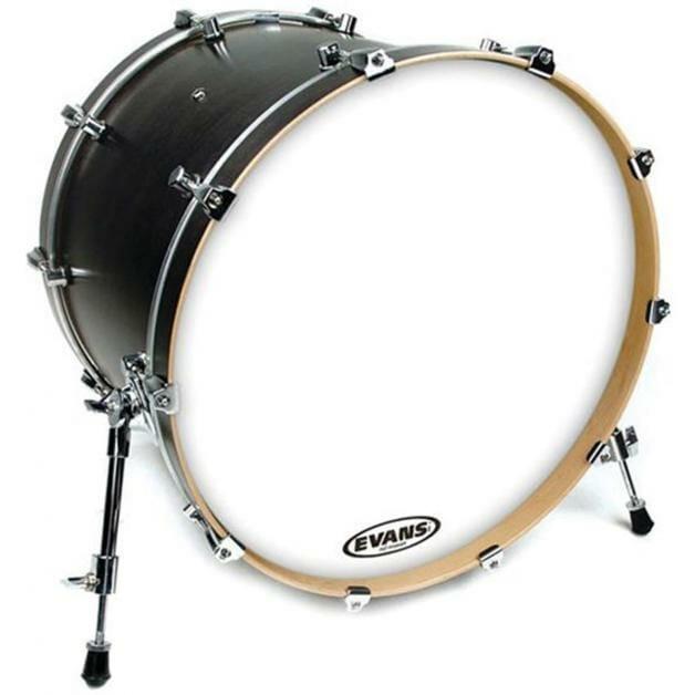 """Evans EQ3 White 16"""" Resonant Tom Hoop Bass Drum Head - No Port"""