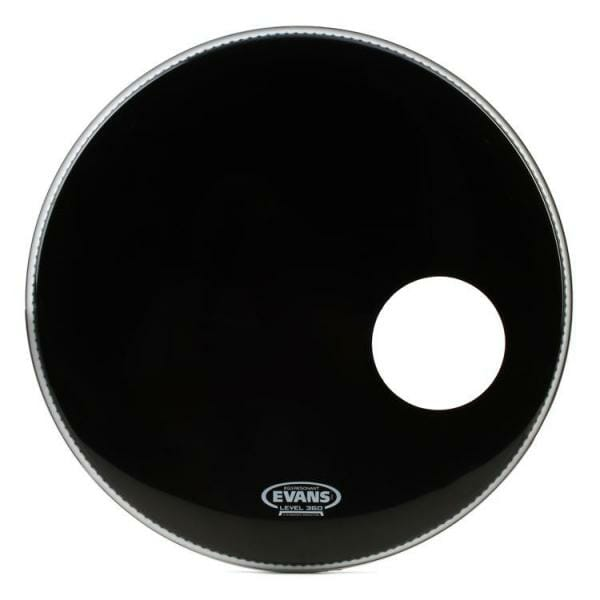 "Evans EQ3 Black 26"" Resonant Bass Drum Head - With Port"
