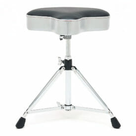 Gibraltar 6608MSG Double Braced Moto Style Throne – Grey Silver Finish