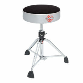 Gibraltar 9608RSG Professional double braced throne with super foot – Satin Grey Silver Side
