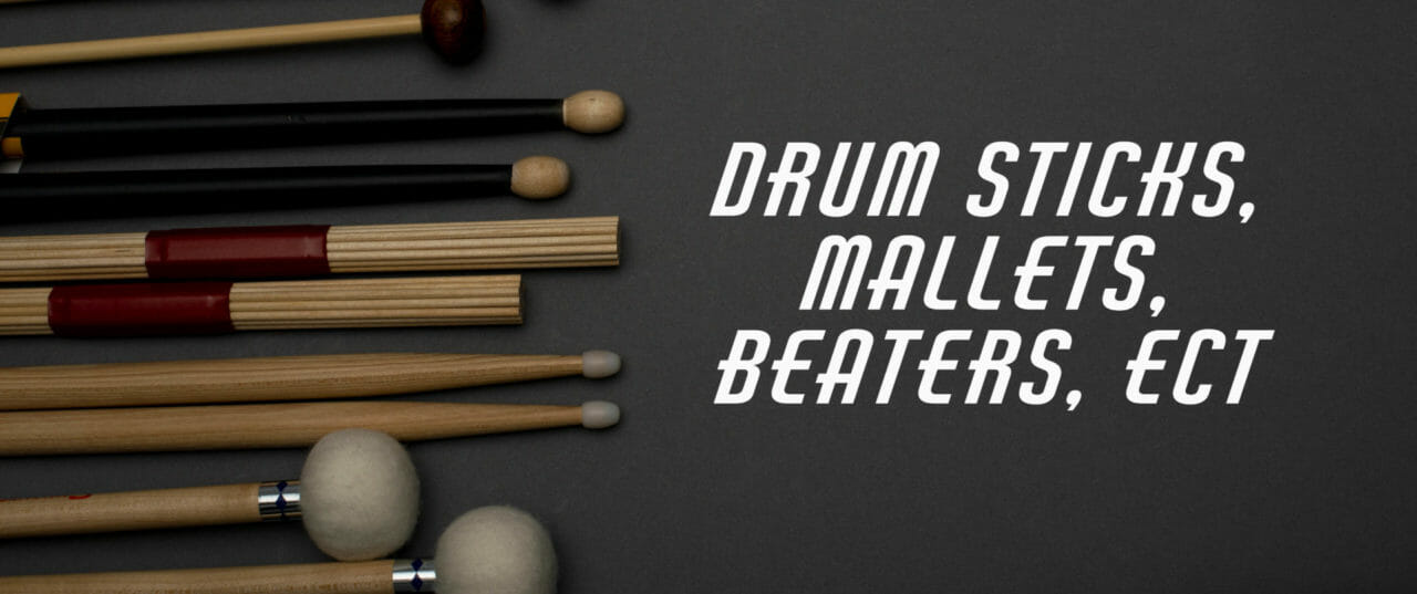 Drumsticks, Mallets, Brushes, Beaters Etc