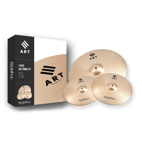"Istanbul ART 3-Piece Cymbal Set - 14"" 16"" 20"" plus Cymbal Bag"