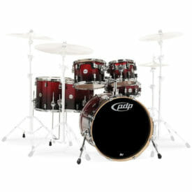 "PDP 22"" 6 Piece Concept Maple Shell Set Red to Black Sparkle Fade"