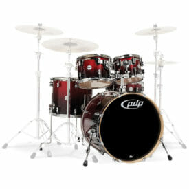 "PDP 20"" Concept Series 5 piece Maple Shell Pack Red To Black Sparkle"