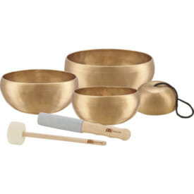 Meinl Sonic Energy Cosmos Therapy Series Singing Bowl Set 3 Pcs. Set - Sb-C-800, Sb-C-1000, Sb-C-2000, Sb-Pm-Mf-S, Sb-Pm-Mf-L
