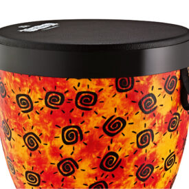 "Meinl Viva Rhythm Pop Off Djembe Soft Sound Series 14"", Pre-Tuned Napa Head, Sunshine Finish"