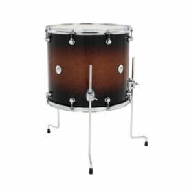 "DW Design Series 18"" x 16"" Floor Tom Gloss Lacquer, Tobacco Burst"