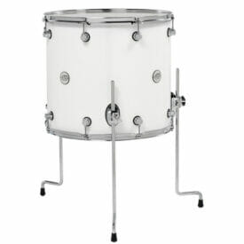 "DW Design Series 18"" x 16"" Floor Tom Gloss Lacquer, White"