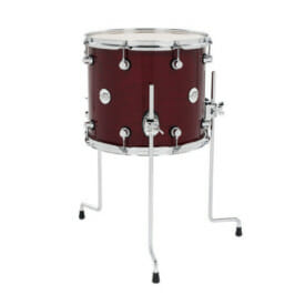 "DW Design Series 14"" x 12"" Floor Tom, Gloss Lacquer, Cherry Stain"