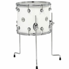 "DW Design Series 14"" x 12"" Floor Tom, Gloss Lacquer, White"
