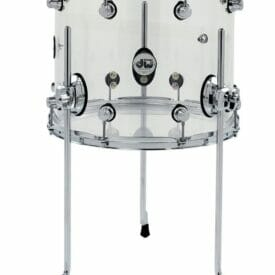 "DW Design Series, 14"" x 12"" Floor Tom, Seamless Acrylic, Clear"