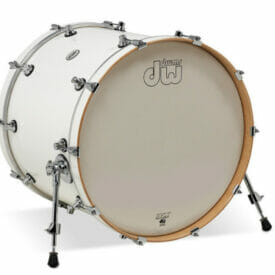 "DW Design Series 22"" x 18"" Bass Drum, Gloss Lacquer, White"