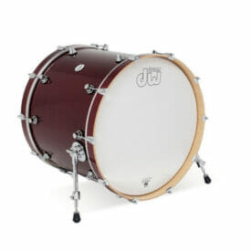 "DW Design Series 22"" x 18"" Bass Drum, Gloss Lacquer, Cherry Stain"