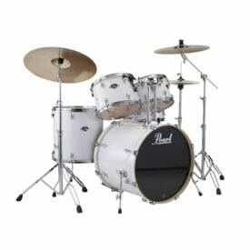 "Pearl Export EXX 22"" LA Fusion Drum Kit with Skype Drum Lesson and Sabian SBR Cymbal Pack - Matt White"