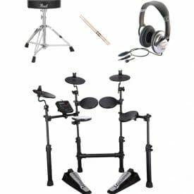CSD100 Bundle with headphones drum sticks and stool