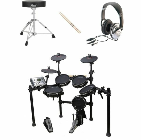 CSD400 bundle deal with headphones drumsticks and stools