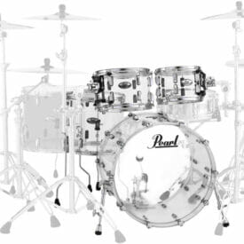 "Pearl Crystal Beat 22"" Ultra Clear 4 Piece Acrylic Drum Kit"